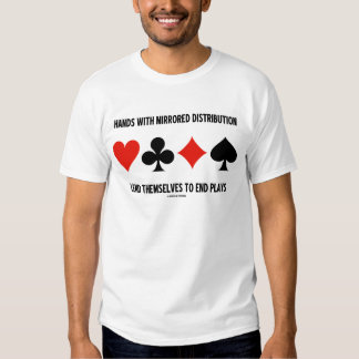 Hands With Mirrored Distribution Lend To End Plays T Shirt