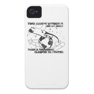 Hands Working Together iPhone 4 Cover
