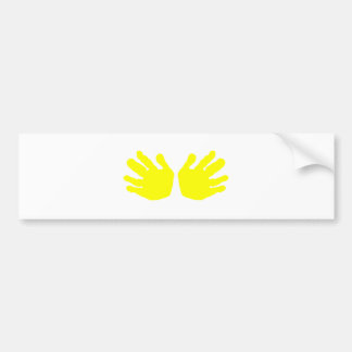 Hands Yellow The MUSEUM Zazzle Gifts Bumper Sticker