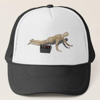 HandsAndKneesWithWrenchToolbox112611 Trucker Hat