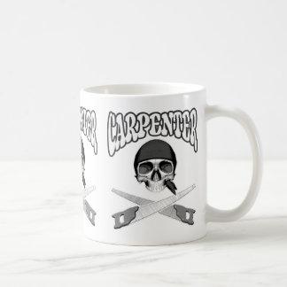 Handsaws del cráneo del carpintero taza de café