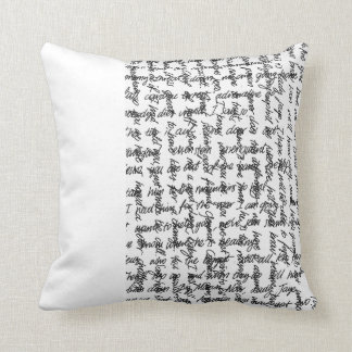 handscript, write me a letter once in a while! pillows
