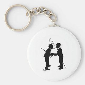 Handshake between gentlemen keychain