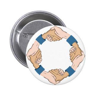 Handshake Circle Hands 2 Inch Round Button