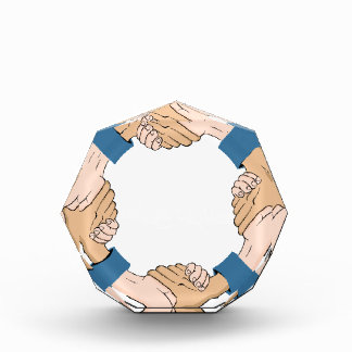 Handshake Circle Hands Award