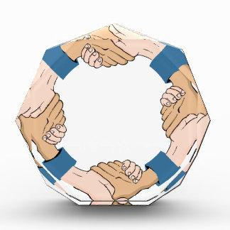 Handshake Circle Hands Acrylic Award