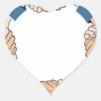 Handshake Circle Hands Heart Sticker