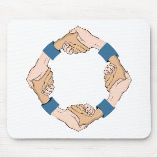 Handshake Circle Hands Mouse Pad