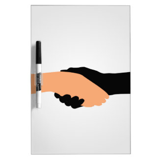 Handshake- Graphic to portray- Stop racism Dry-Erase Whiteboard