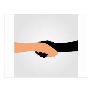 Handshake- Graphic to portray- Stop racism Postcard