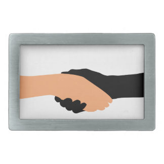 Handshake- Graphic to portray- Stop racism Rectangular Belt Buckle