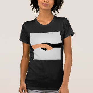 Handshake- Graphic to portray- Stop racism T-Shirt