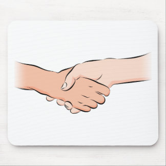 Handshake Hands Mouse Pad