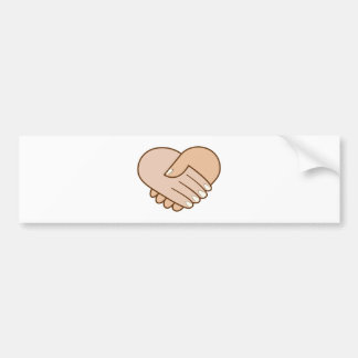 Handshake heart handshake heart bumper sticker