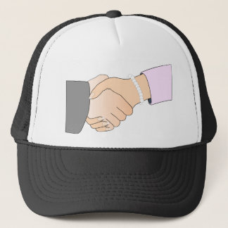Handshake Man and Woman Trucker Hat