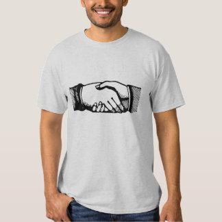 Handshake Shirt with Retro Vintage Hands
