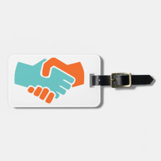 Handshake together luggage tag