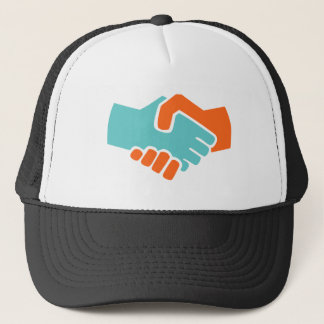 Handshake together trucker hat