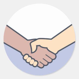 Handshake Vector Classic Round Sticker