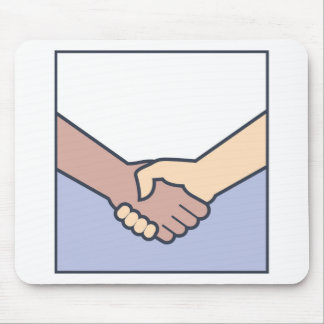 Handshake Vector Mouse Pad