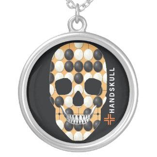 HANDSKULL Baduk,Happy skull,Baduk flag Silver Plated Necklace