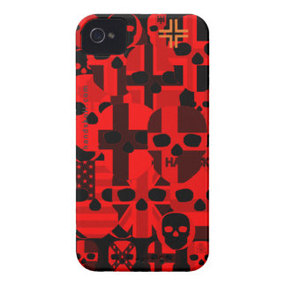 HANDSKULL Cerebro Red - IPhone 4 Barely There Univ iPhone 4 Case