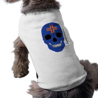 HANDSKULL Cross Orange,Happy skull,Blue flag T-Shirt