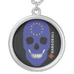HANDSKULL Europe,Happy skull,Europe flag Jewelry