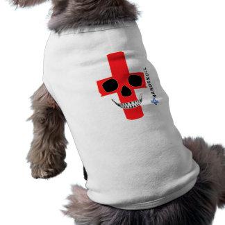 HANDSKULL Inglaterra, cráneo feliz, bandera de Ing Playera Sin Mangas Para Perro