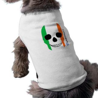 HANDSKULL Ireland,Happy skull,Ireland flag T-Shirt