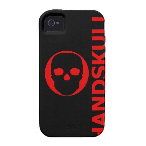 HANDSKULL Liv - caso del ambiente del iPhone 4 Funda Para iPhone 4/4S