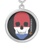 HANDSKULL Netherlands,Happy skull,Netherlands flag Pendant