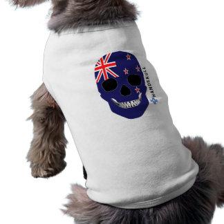 HANDSKULL New Zealand,Happy skull,New Zealand flag Tee