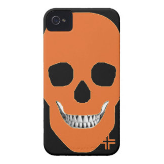 HANDSKULL Orange - IPhone 4 Barely There Univ iPhone 4 Case-Mate Case