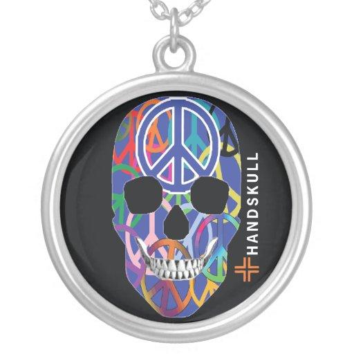 HANDSKULL Peace,Happy skull,Peace flag Custom Jewelry