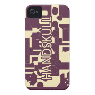 HANDSKULL Purpur - IPhone 4 Barely Universal iPhone 4 Cover