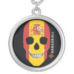 HANDSKULL Spain,Happy skull,Spain flag Jewelry