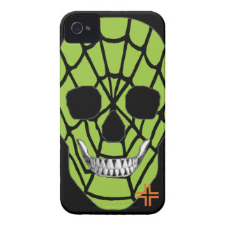 HANDSKULL Web Green - IPhone 4 Barely There Univ iPhone 4 Case-Mate Case