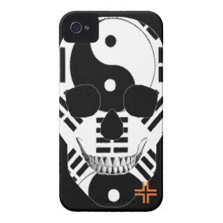 HANDSKULL Yin Yang - IPhone 4 Barely There Univ iPhone 4 Cover