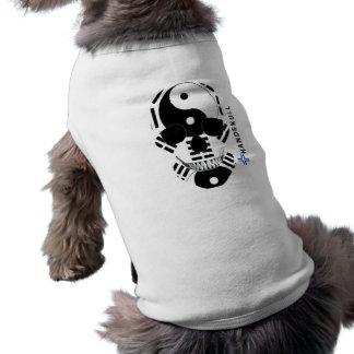 HANDSKULL Ying Yang,Happy skull,Web Green flag T-Shirt