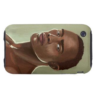 Handsome African man İllustration casemate Tough iPhone 3 Case