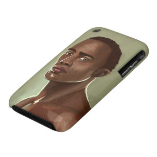 Handsome African man İllustration casemate Case-Mate iPhone 3 Cases
