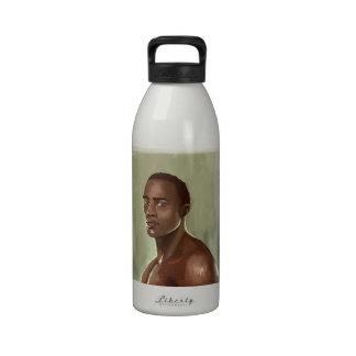 Handsome African man İllustration Liberty Bottle Water Bottle