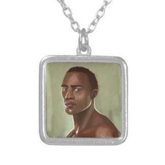 Handsome African man İllustration necklace