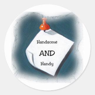 Handsome AND Handy Sticker