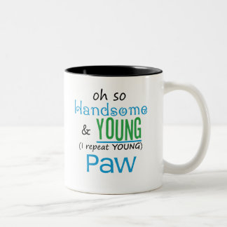 Handsome and Young Paw Two-Tone Coffee Mug