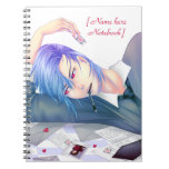 handsome anime boy dreaming of love spiral notebook