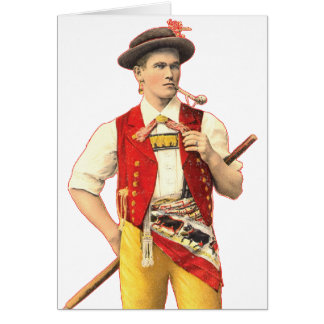 Handsome Appenzell Farmer in Traditional Costume Card