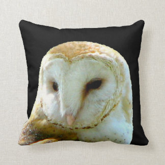 Handsome Barn Owl Close Up Pillow