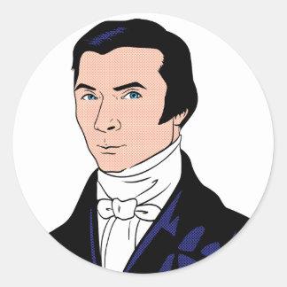 Handsome Bastiat Classic Round Sticker